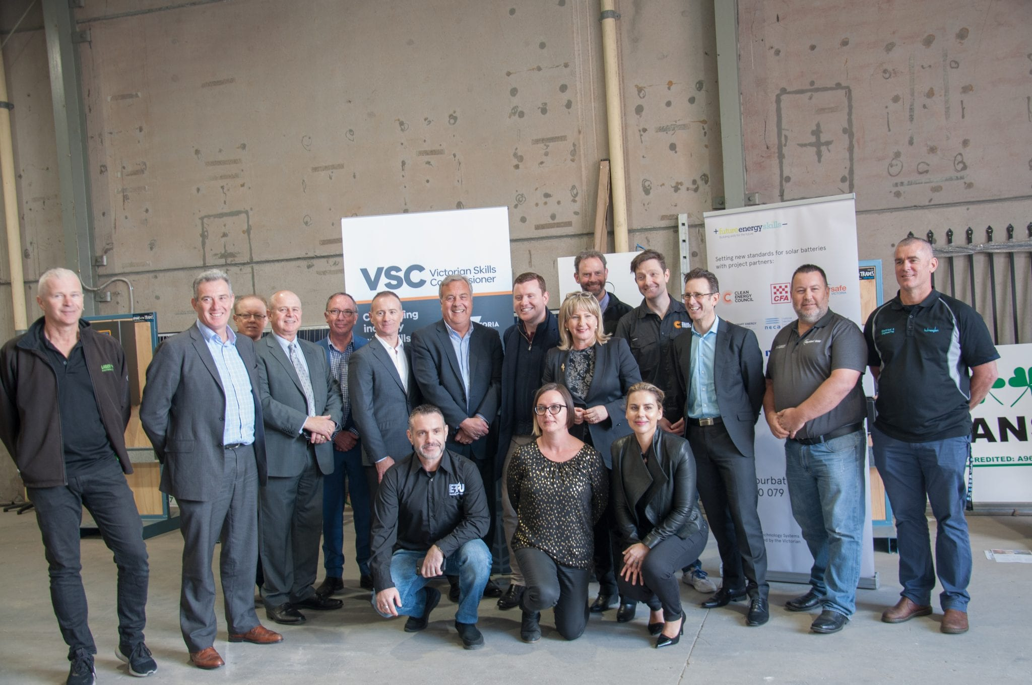 Collaborating partners on the NETS Project pose at the launch