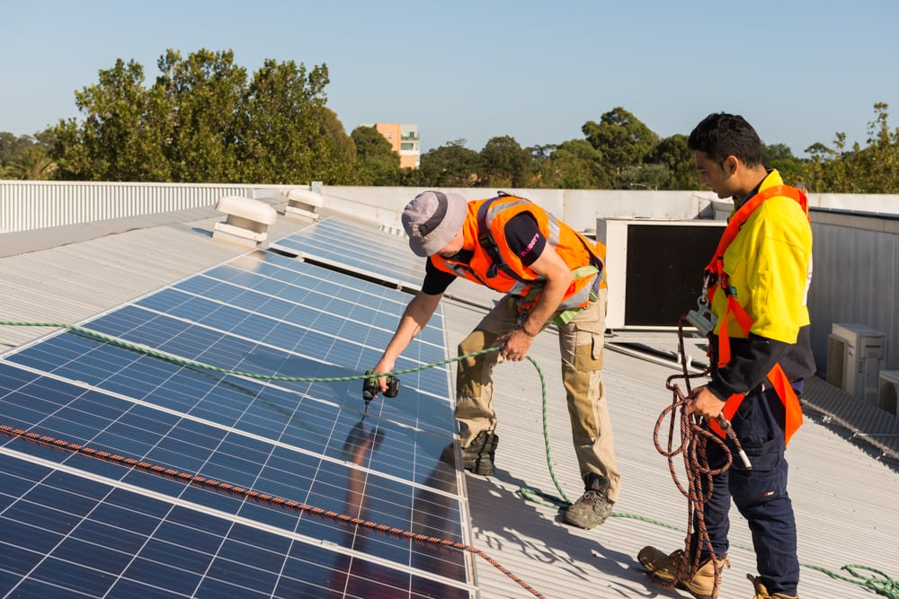 Solar installations have their own safety risks to consider.
