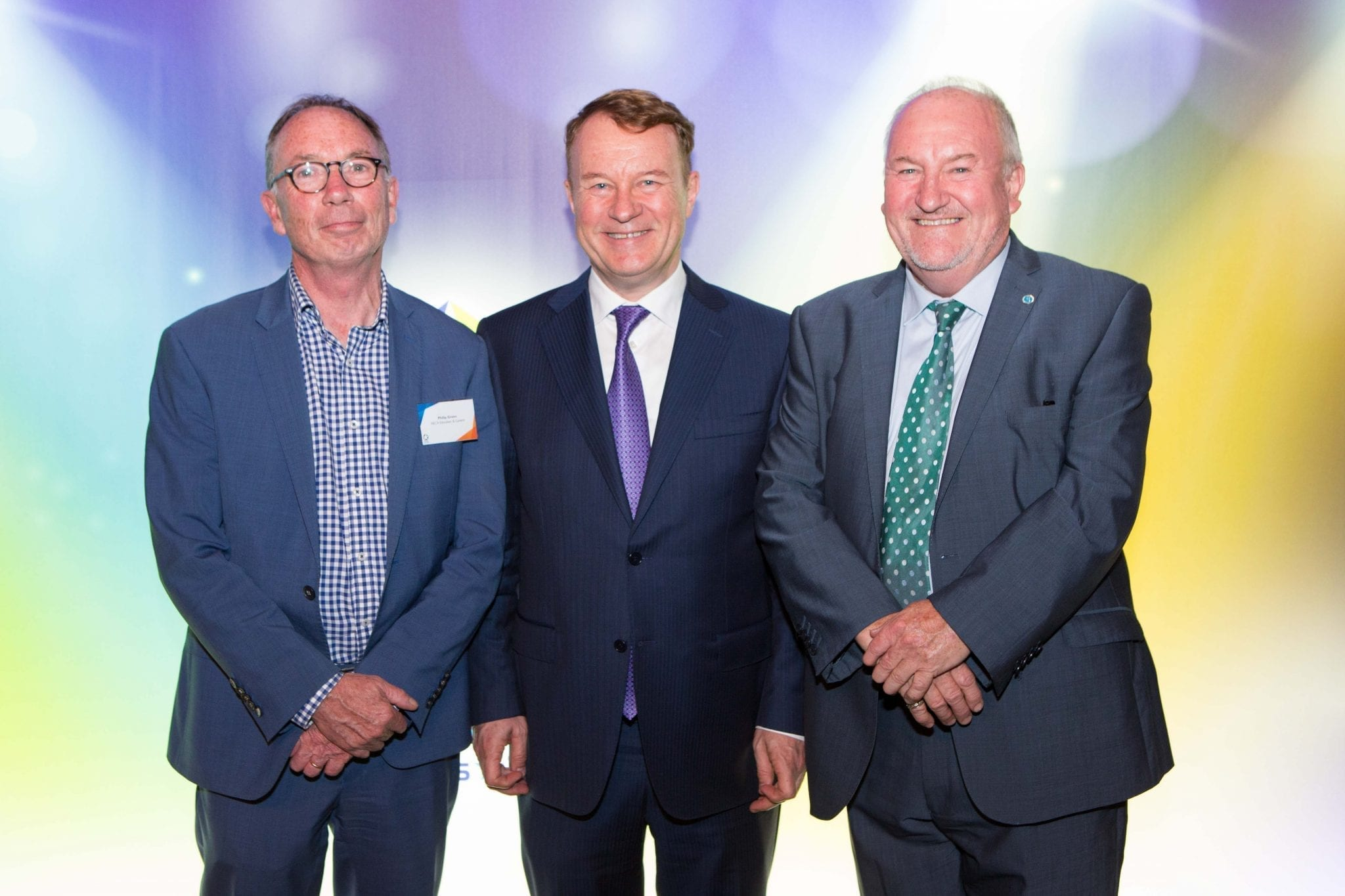 Phil Green, CEO NECA Education & Careers with Phil Honeywood and Steve Herbert