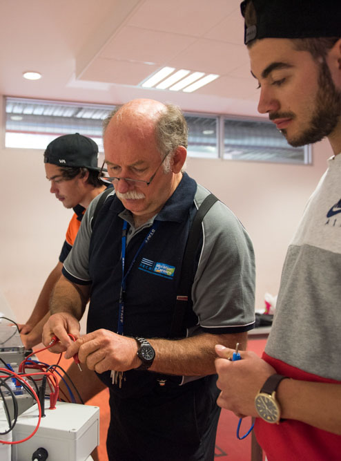 teaching electrical apprentices