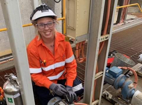 Jane Bone, NECA Education & Careers Electrical Apprentice placed with Nyrstar